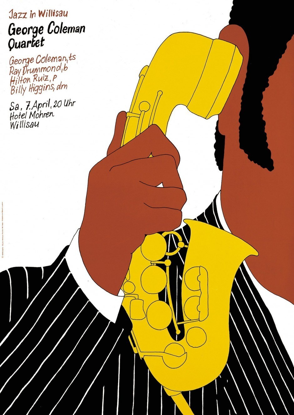 Niklaus Troxler – Plakat George Coleman Quartet, 1979