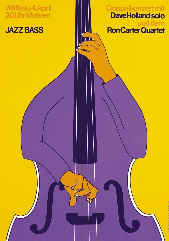 Niklaus Troxler – Plakat Jazz Bass, 1981