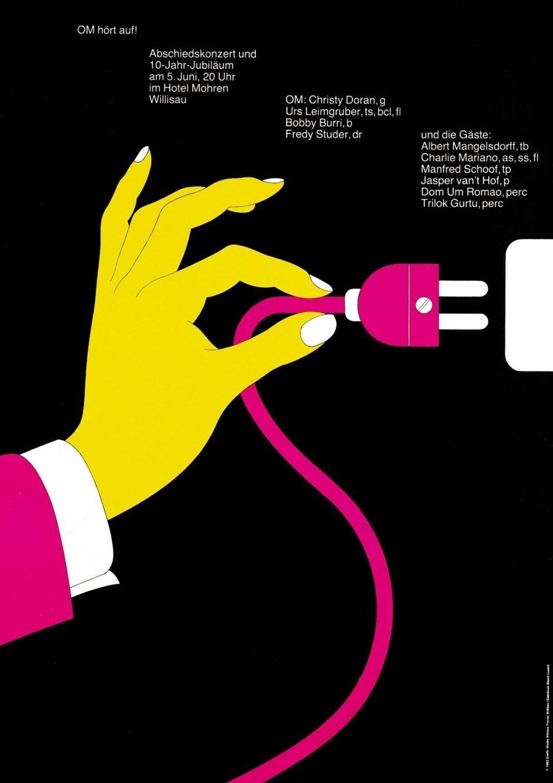 Niklaus Troxler – Plakat Om hört auf!, 1982