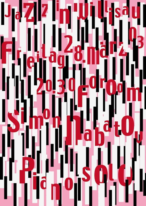 Niklaus Troxler – Plakat Simon Nabatov Solo, 2003