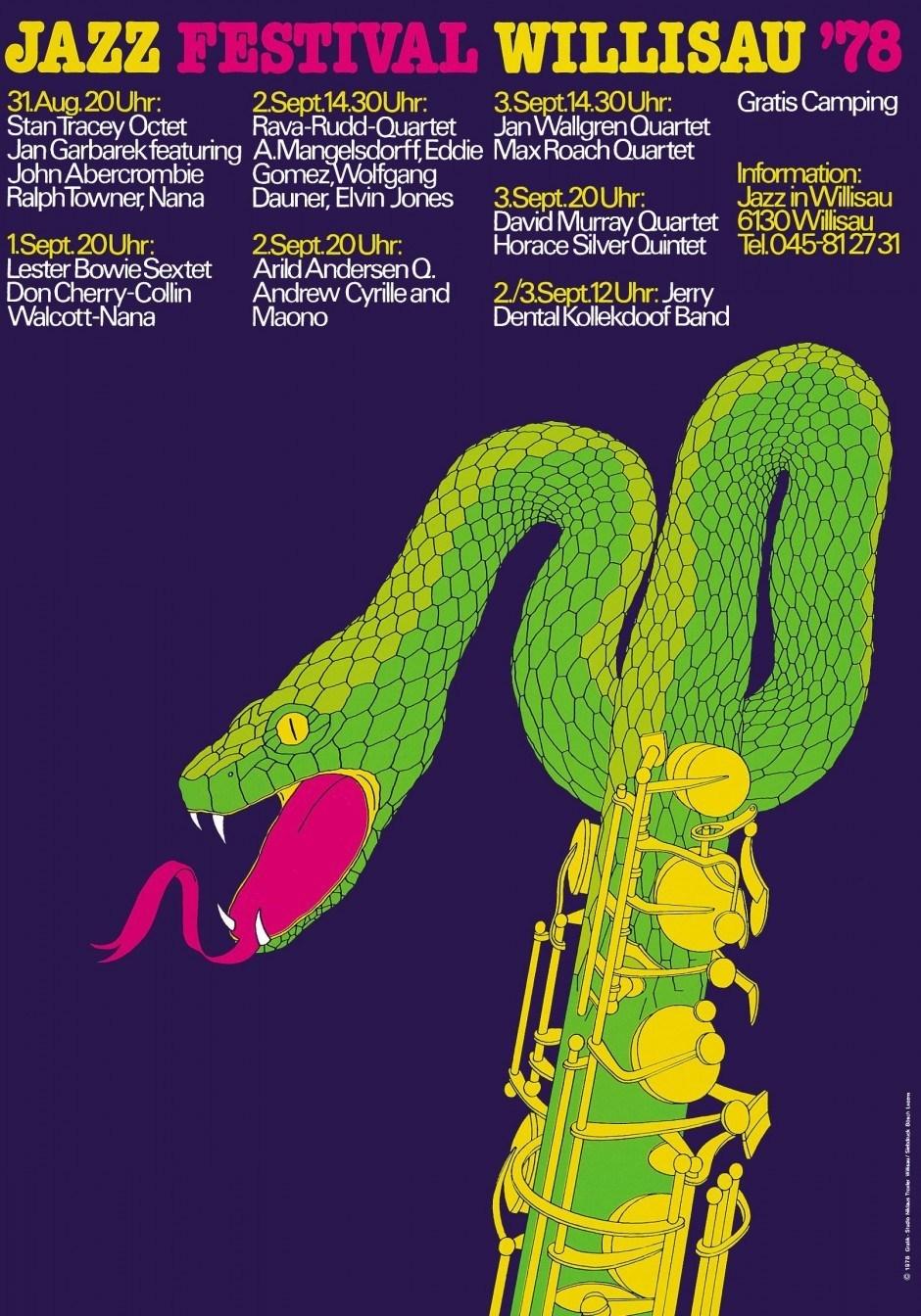 Niklaus Troxler – Plakat Jazz Festival Willisau, 1978