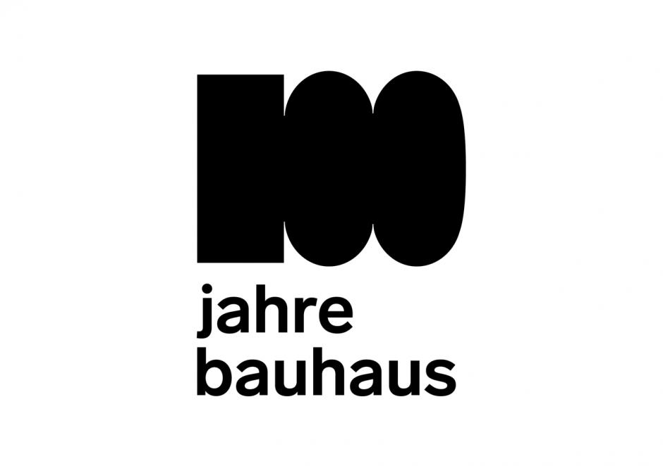 100 Jahre Bauhaus – Logo Deutsch
