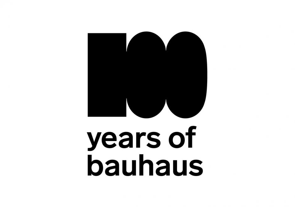 100 Jahre Bauhaus – Logo Englisch