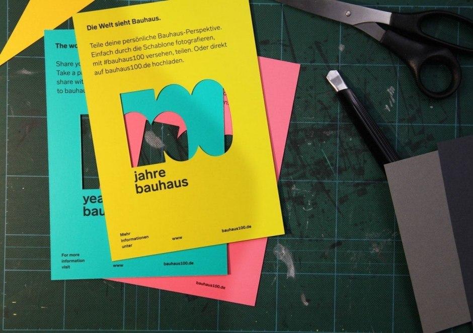 100 Jahre Bauhaus – Schablone