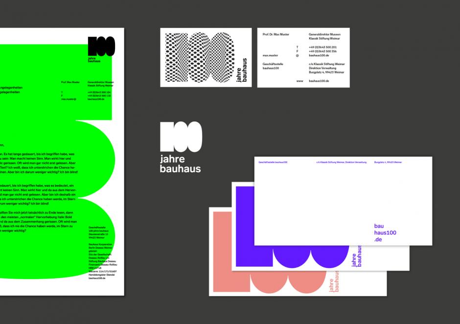 100 Jahre Bauhaus – Stationery