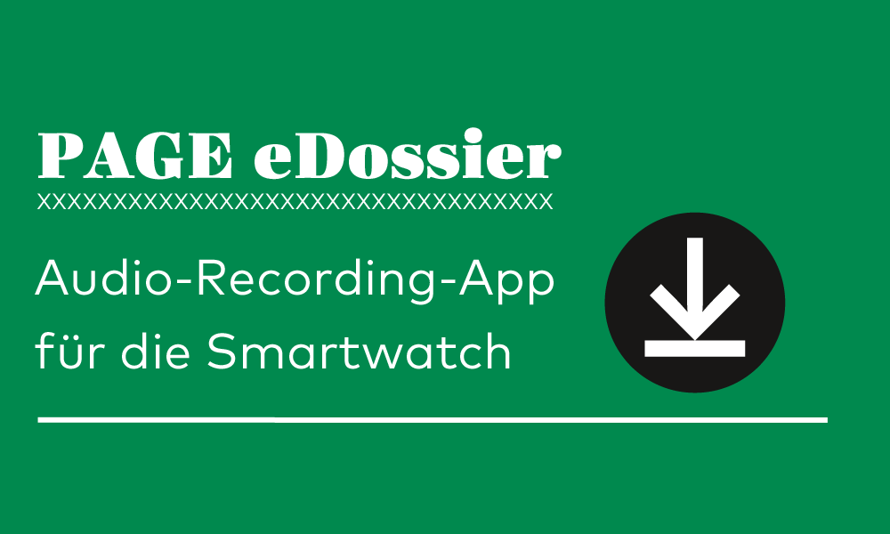 page edossier audio recording app f r die smartwatch. Black Bedroom Furniture Sets. Home Design Ideas