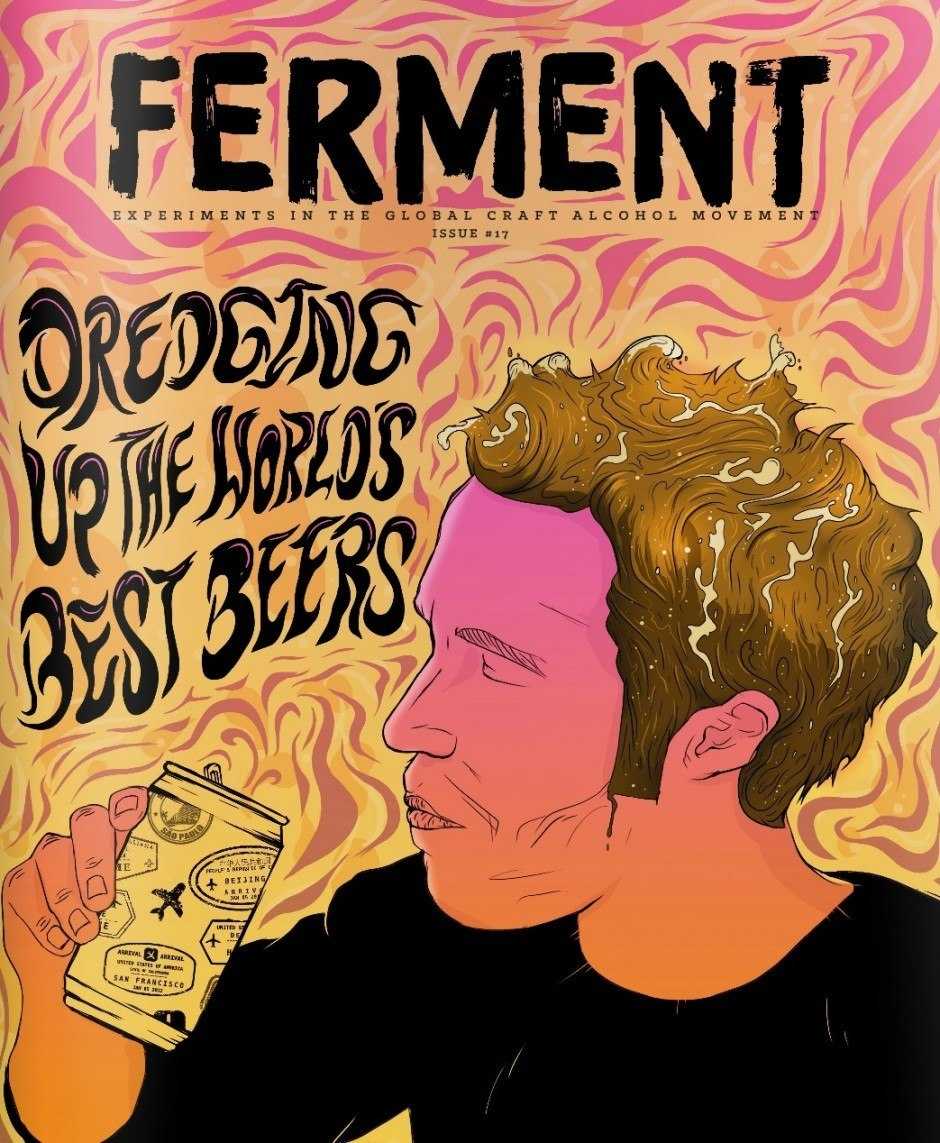 Mike Hughes aus dem schottischen Aberdeen zeichnete diesen Craft-Bier-Trinker. www.m-hughes.com