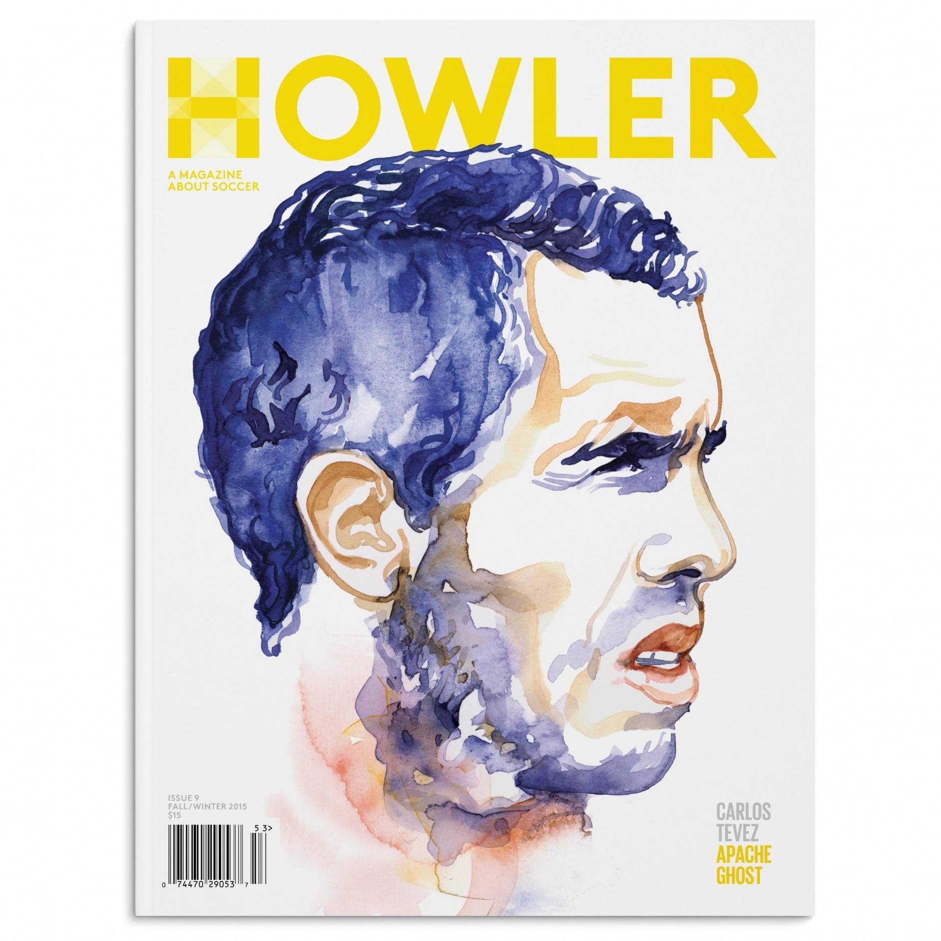 Das US-Fußballmagazin »Howler« erscheint vier Mal jährlich – hier mit einem Cover von Anje Jager. www.anjejager.com/