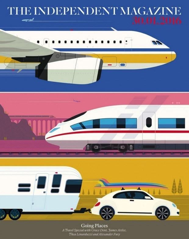 Ganz schön mobil: Peter Greenwood für eine Beilage von »The Independent«. www.peter-greenwood.com