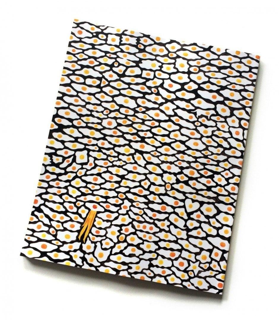Die Frühstücksausgabe des Food-Magazins »Lucky Peach« interpretierte Monica Ramos mit sehr vielen Spiegeleiern. www.monramos.com