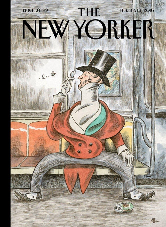 Der argentinische Cartoonist Liniers lieferte für die Jubiläumsausgabe von »The New Yorker« eine neue Version des Dandys Eustace Tilley, der vor 95 auch auf der ersten Ausgabe des Magazins zu sehen war. www.porliniers.com