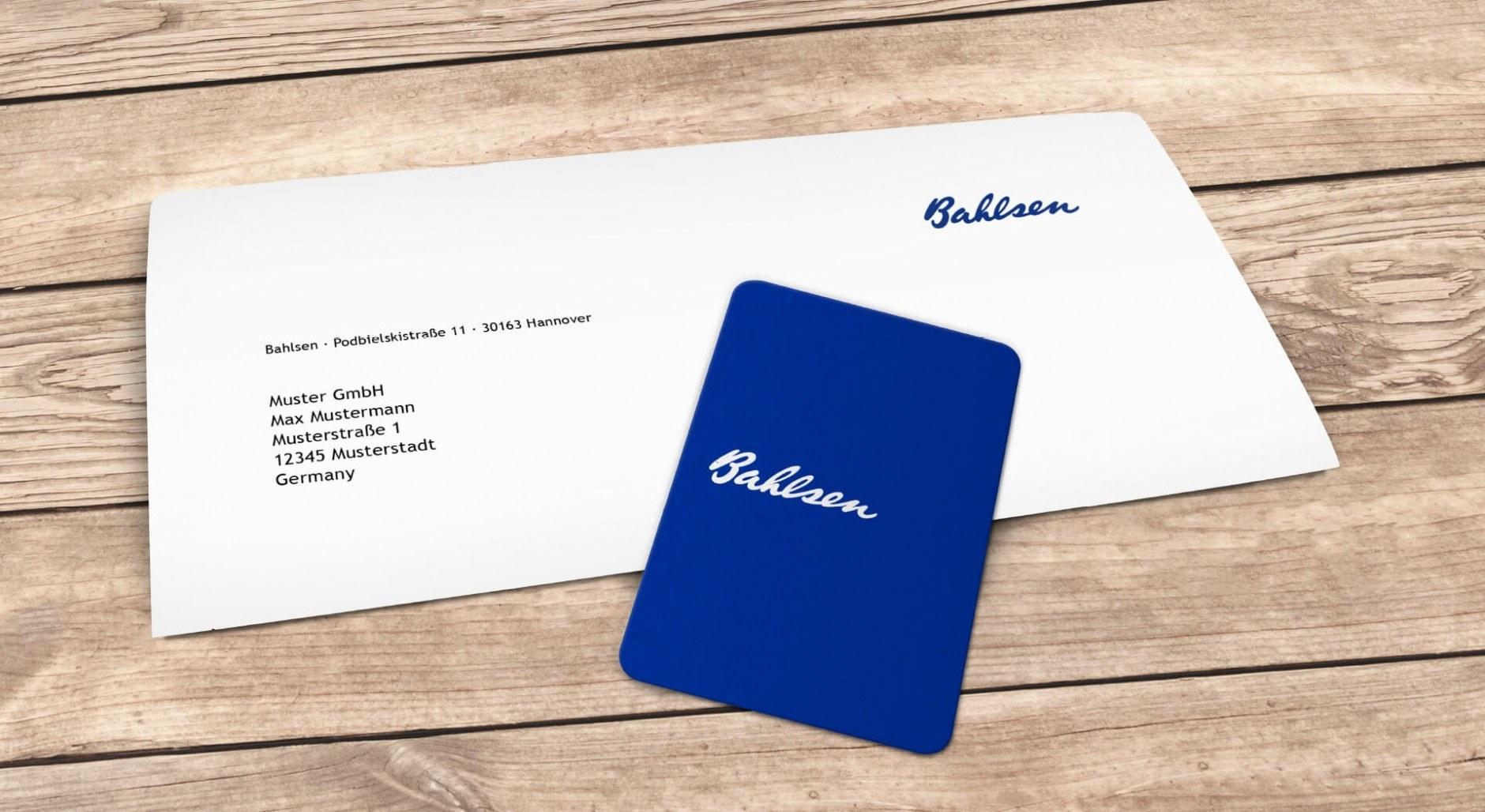 Bahlsen Briefbogen und Visitenkarte