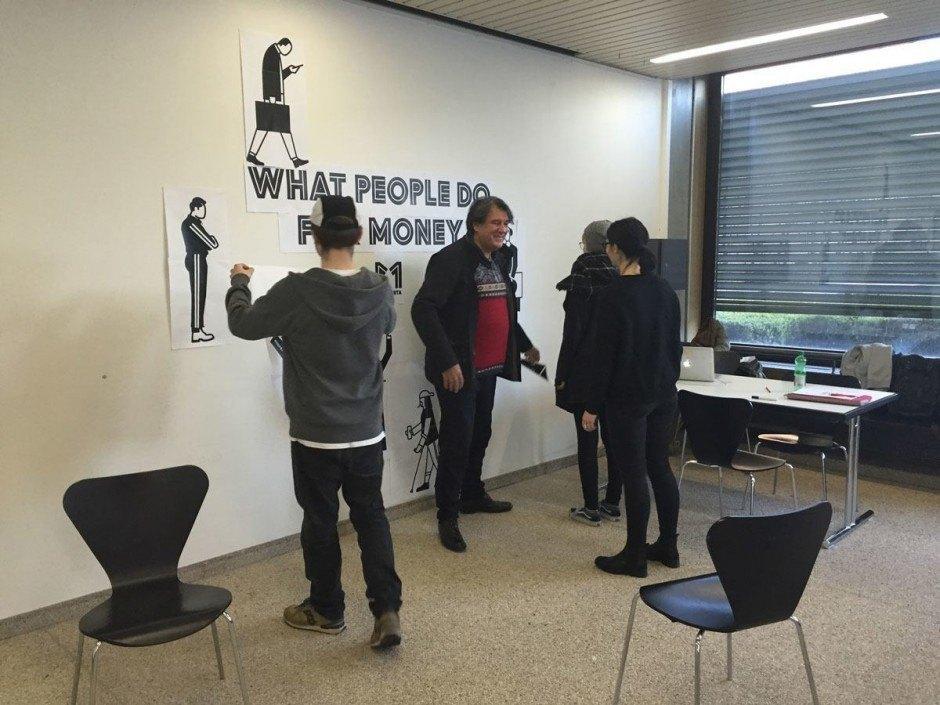 Ruedi Baur im Workshop mit der Berufsschule