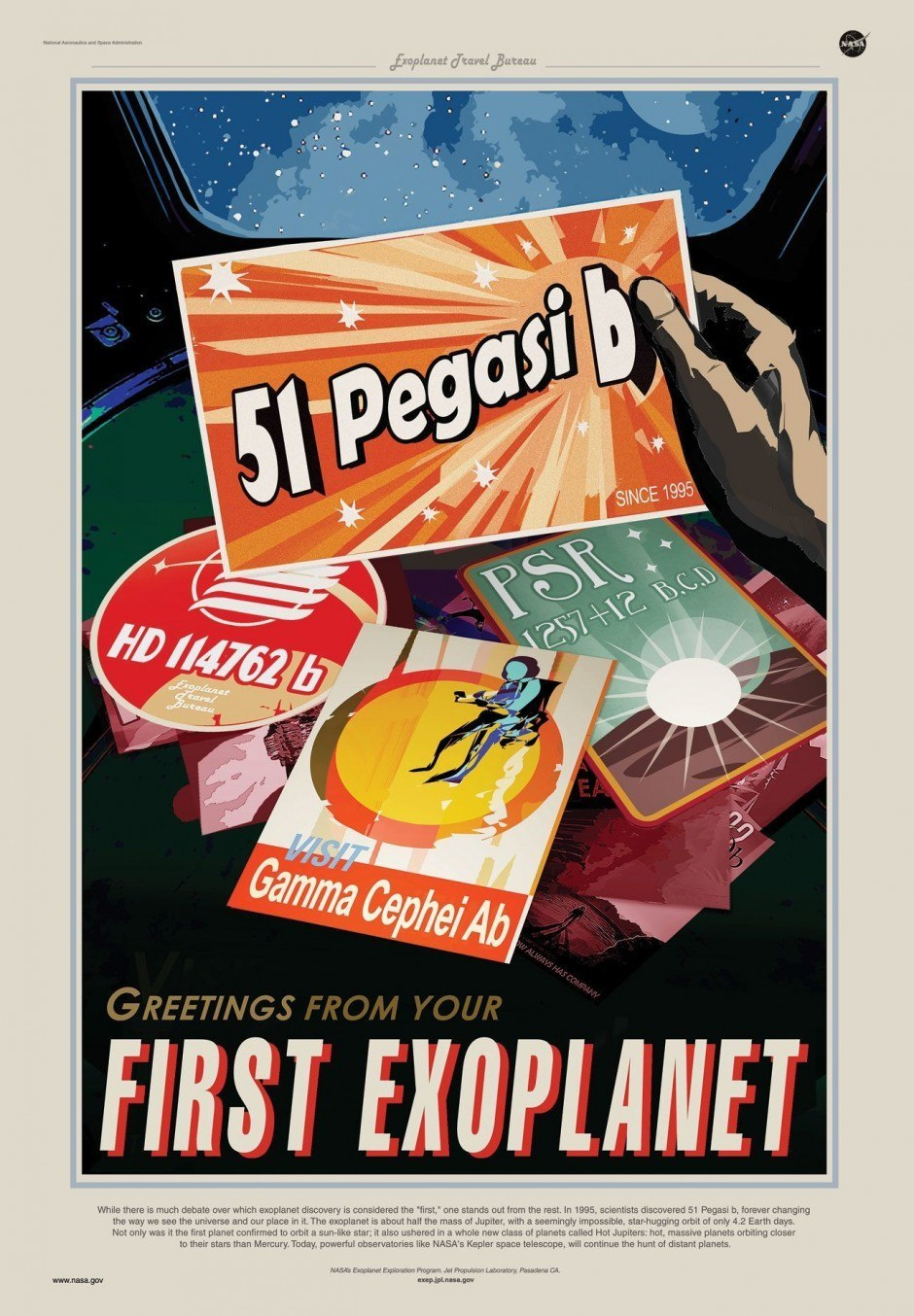 NASA Plakat: Greetings from your First Exoplanet