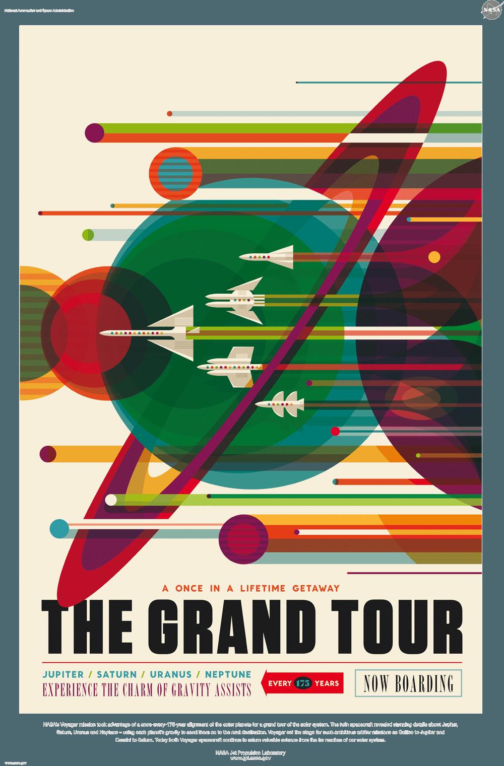 NASA Poster, Plakat Design, Illustration
