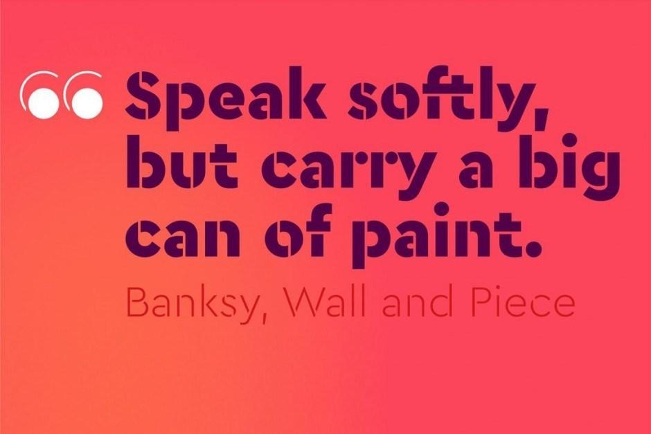 Die paneuropäische Schablonenschrift Cera Stencil eignet sich für klare aber markante Headlines.