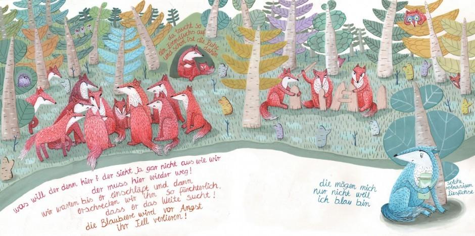 Die Preisträger des Ravensburger-Illustrationswettbewerbs: 2. Platz für Karolina Benz Bilderbuchidee »Der blaue Fuchs«