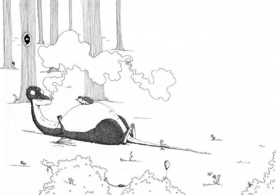 Gehörte zu den Top 5 des Ravensburger-Illustrationswettbewerbs: Eva Strasburgers Bilderbuchidee »Armer Drache Willy Dinkywing«
