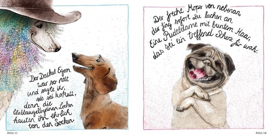 Gehörte zu den Top 5 des Ravensburger-Illustrationswettbewerbs: Philine Delektas Bilderbuchidee »Die Pudeldame Felicita«