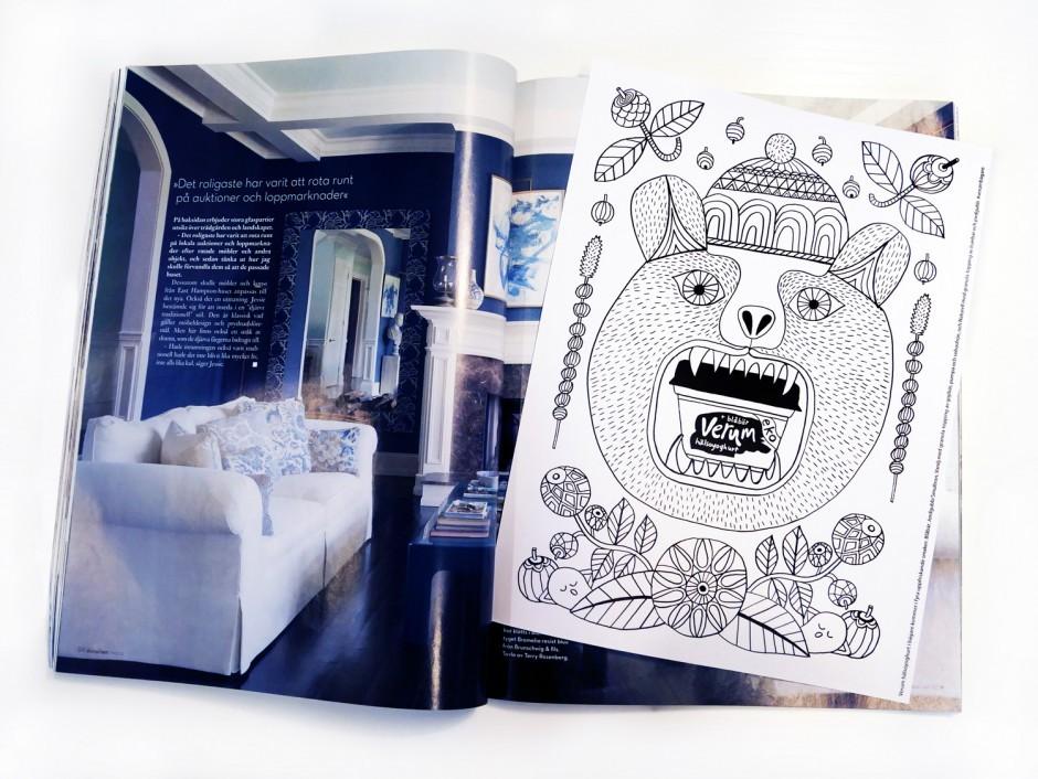 Ungewöhnliche Zeitschriftenwerbung: Diversen Magazinen legte Saatchi & Saatchi die Artworks von Maja Sten als Beilage zum Ausmalen bei