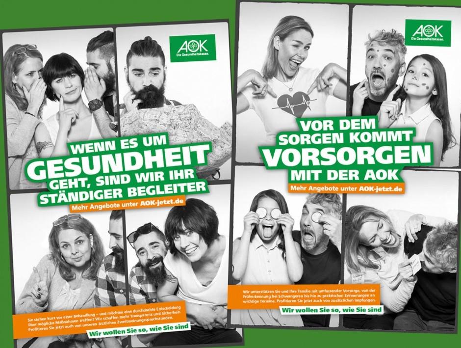AOK Nordost - Kampagne »Facetten Deines Lebens« (Plakate)