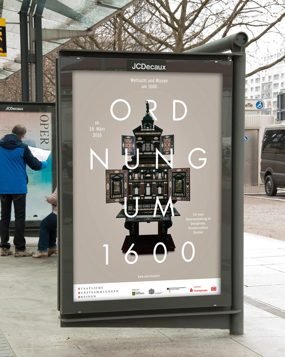 Kampagne für die Ausstellung »Weltsicht und Wissen um 1600«