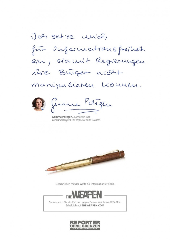 Gemma Poerzgen, Journalistin und Vorstandsmitglied von Reporter ohne Grenzen