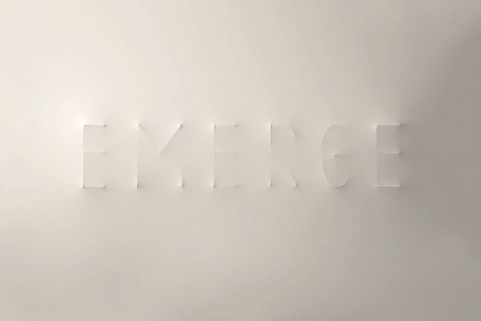 Experimentelle Typographie auf Latex Leinwand
