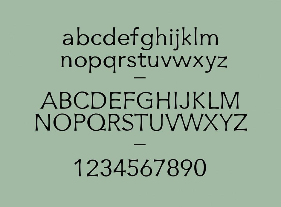 Typeface, 4 Styles