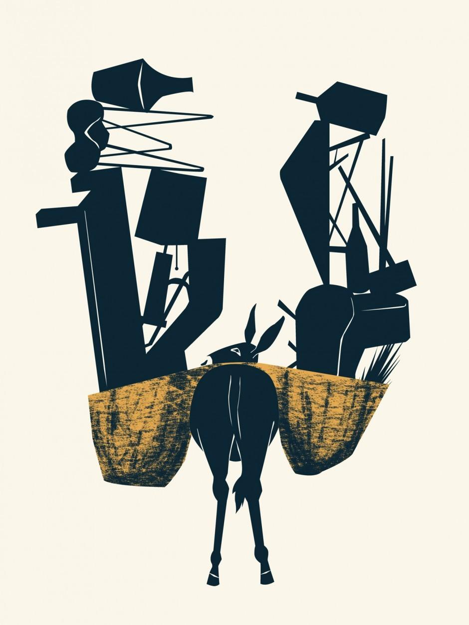 Poster für ein Midcentury Möbelhaus