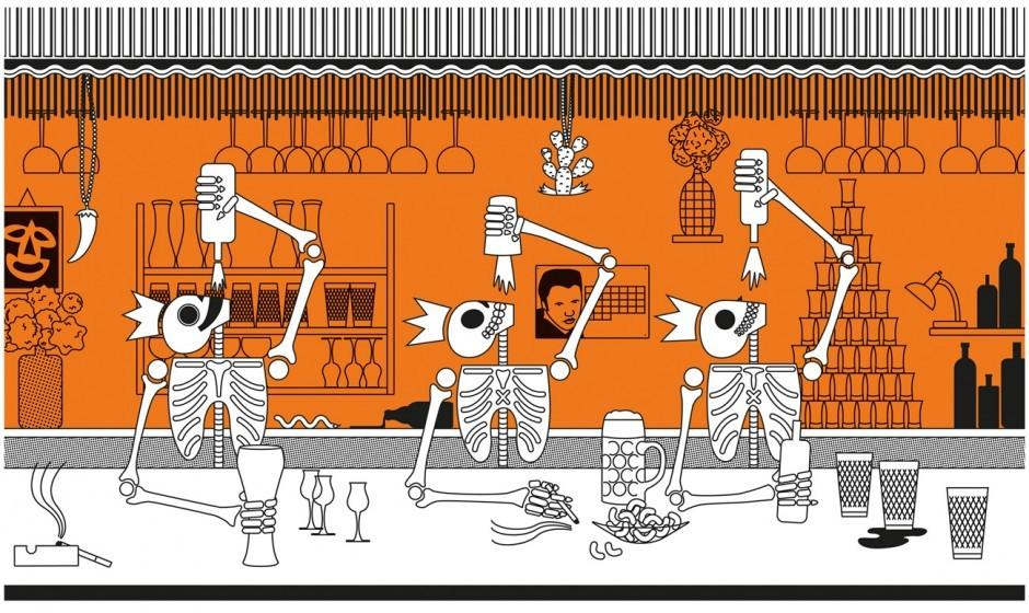Poster für eine Kneipe namens Dreikönigskeller