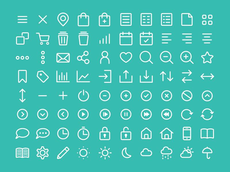 Kostenlose Icons, Piktogramme