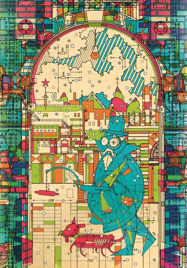 Michail Bulgakow / Christian Gralingen (Illustrationen): Das hündische Herz. Eine fürchterliche Geschichte, Edition Büchergilde