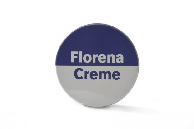 Cremedose Florena, um 1989, Hersteller: VEB Chemisches Werk Miltitz Florena Waldheim-Döbeln