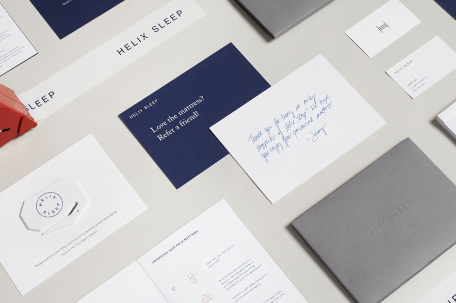 »Helix Sleep« Print Design, Agentur High Tide