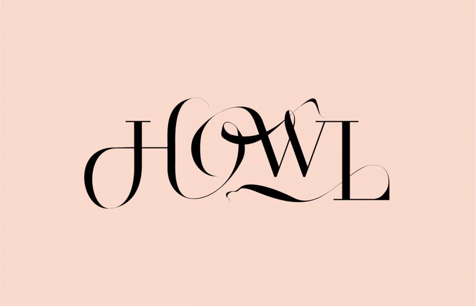 »Howl« Lettering