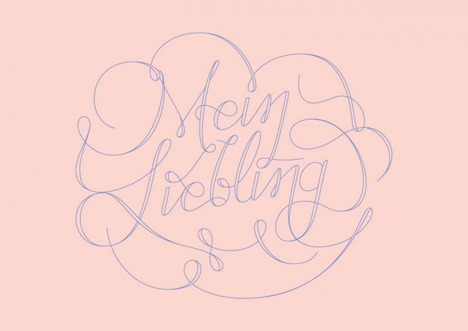 »Mein Liebling« Lettering