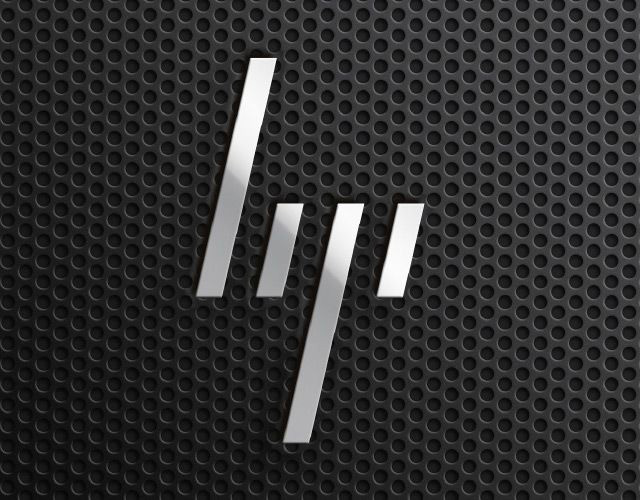 hp logo, hp, redesign