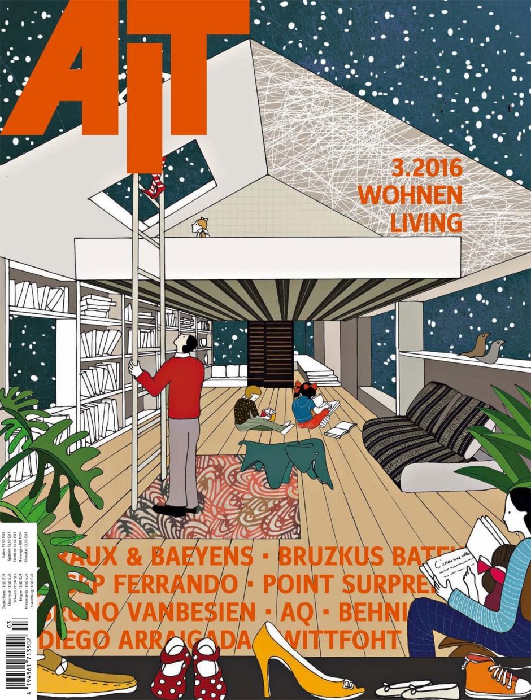 Die in Mailand lebende Illustratorin Anna Sutor visualisierte hier eine Ausgabe »AIT« zum Thema privates Wohnen. www.annasutor.com