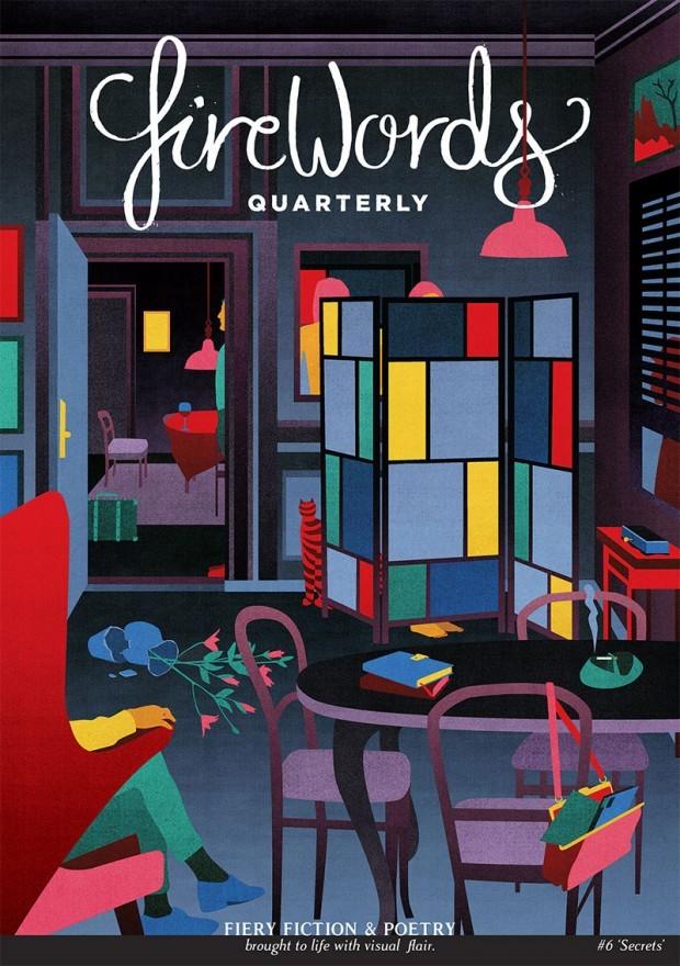Auch dieses Cover des britischen Literaturmagazins »Firewords« versah die Berliner Illustratorin Stephanie F. Scholz mit einem Bild. http://www.stephanie-f-scholz.com/