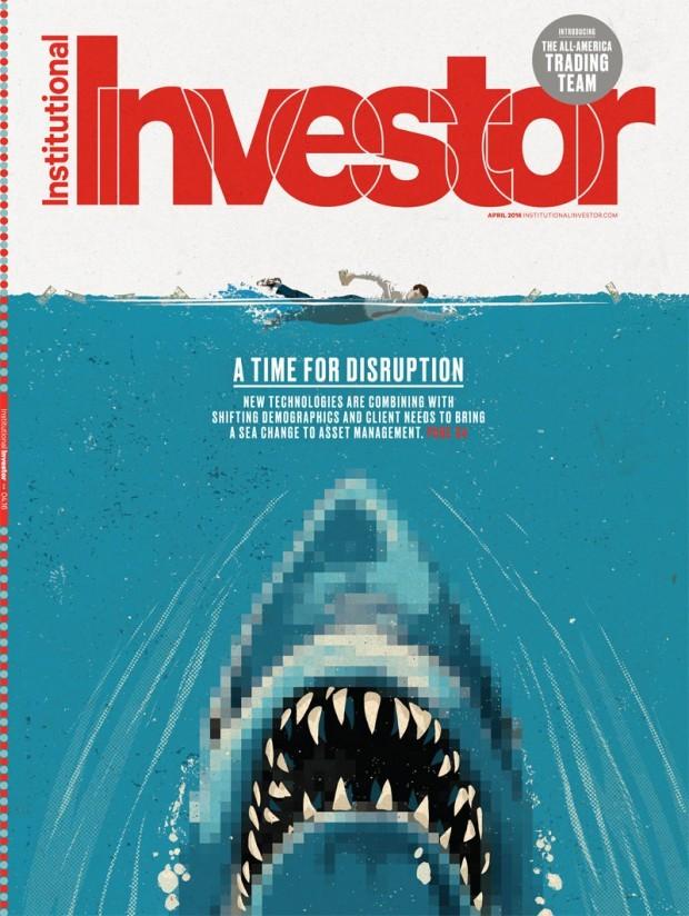 Zum Thema Investition passen Haifische grundsätzlich nicht schlecht, erst recht wenn es um die Digitalwirtschaft geht – dachte sich wohl der kalifornische Illustrator Mark Smith. www.marksmithillustration.com