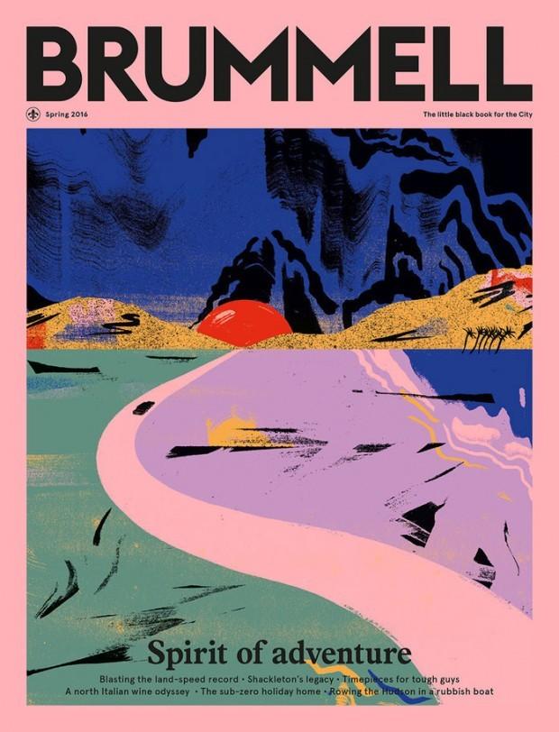 Cynthia Kittler, die in der Titelgeschichte von PAGE 7.2016 über ihre kreativen Recherchemethoden berichten wird, illustrierte dieses Cover fürs britische Magazin »Brummel«. www.cynthiakittler.com