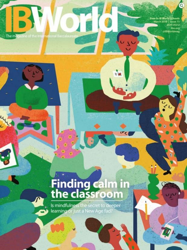 Machen Yoga, Meditation und Achtsamkeit in der Schule Sinn? Illustrator Nicholas Stevenson scheint die Frage zu bejahen. www.nicholasstevenson.com