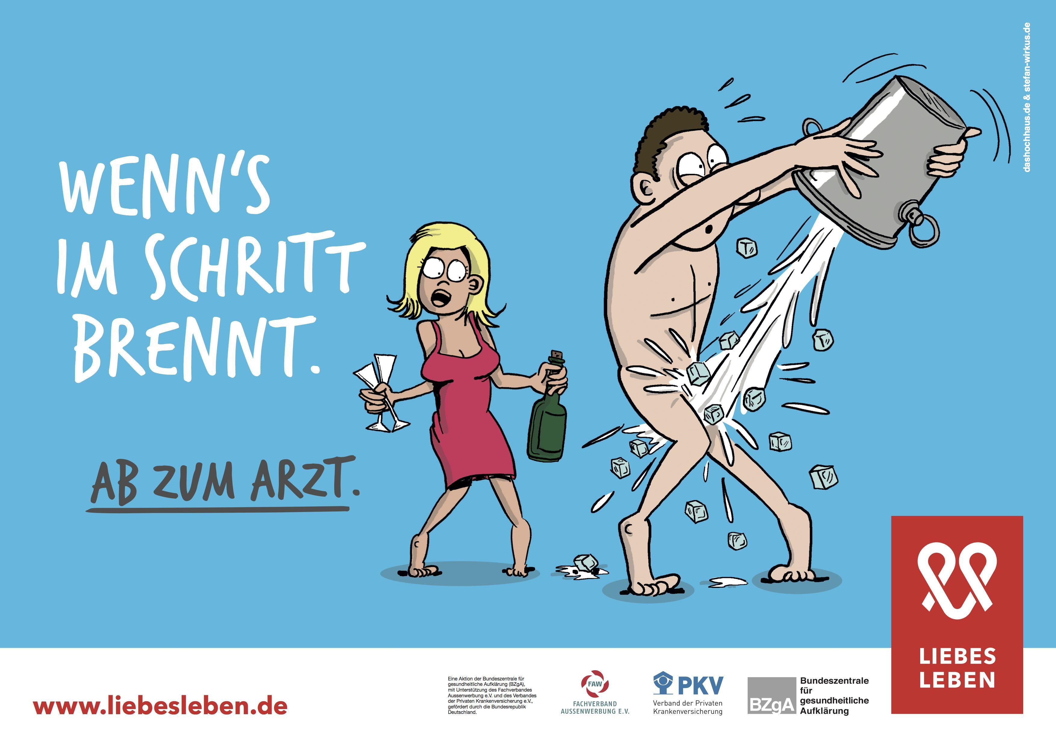 Für die Kreation der Liebesleben - Kampagne ist die Kölner Agentur Das Hochhaus in Zusammenarbeit mit dem Hamburger Illustrator Stefan Wirkus verantwortlich.