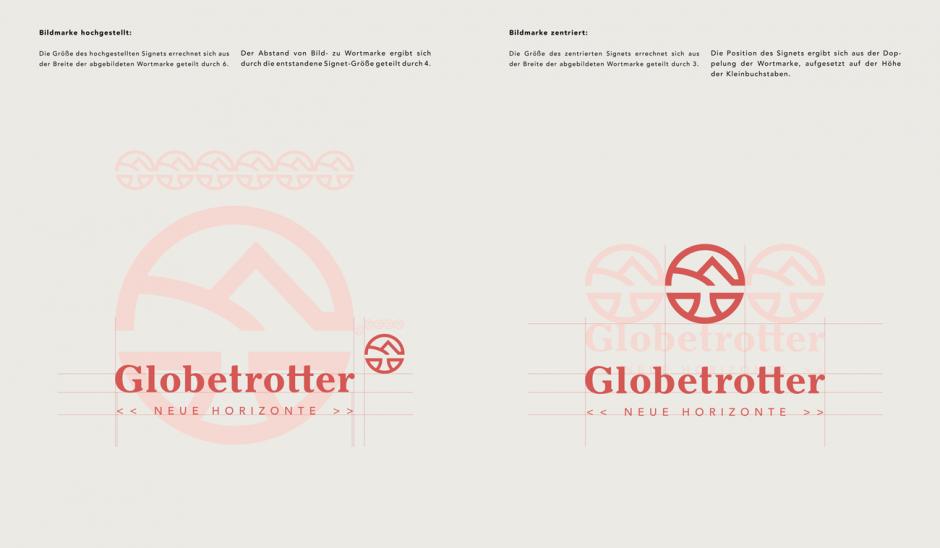Globetrotter: Anwendungsbeispiele Bildmarke