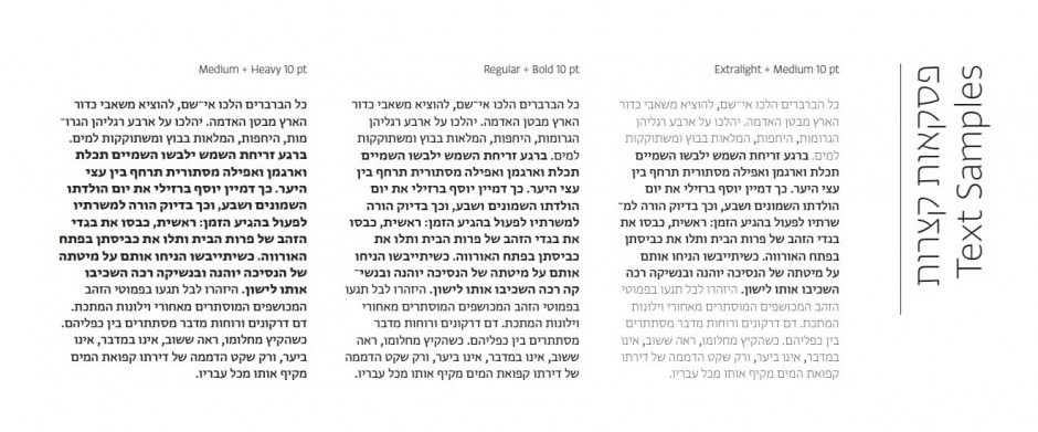 Greta Hebrew von Peter Bilak und Daniel Berkovitz