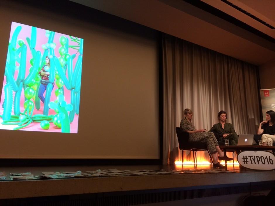 Süpergrüp beim »Strictly No design« Talk: Journalistin Antje Wewer, Sarah Illenberger und Floristin Ruby Barber