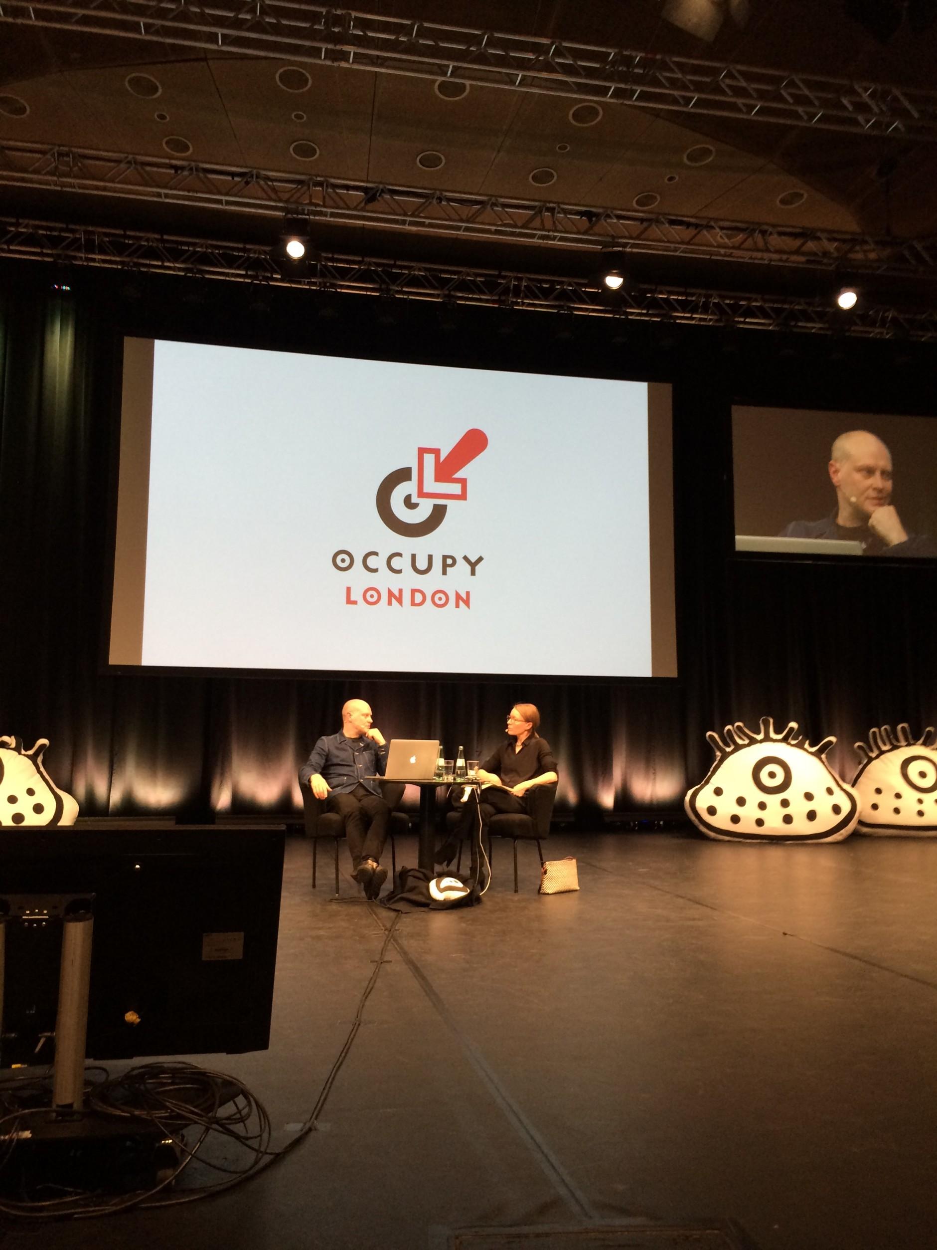 Occupy London von Jonathan Barnbrook, im Gespräch mit Sonja Knecht