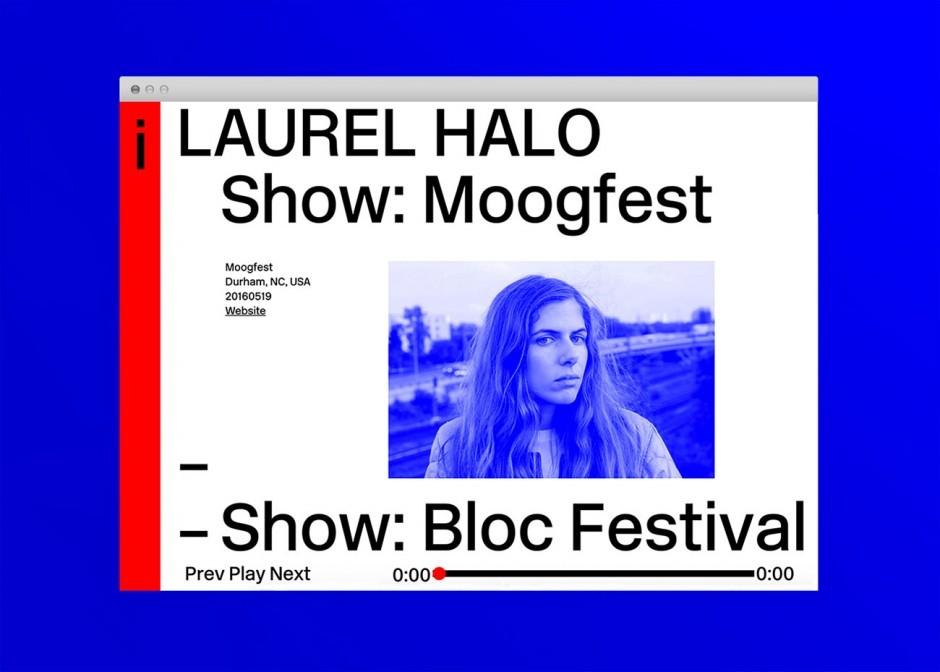 Laurel Halo: Webdesign
