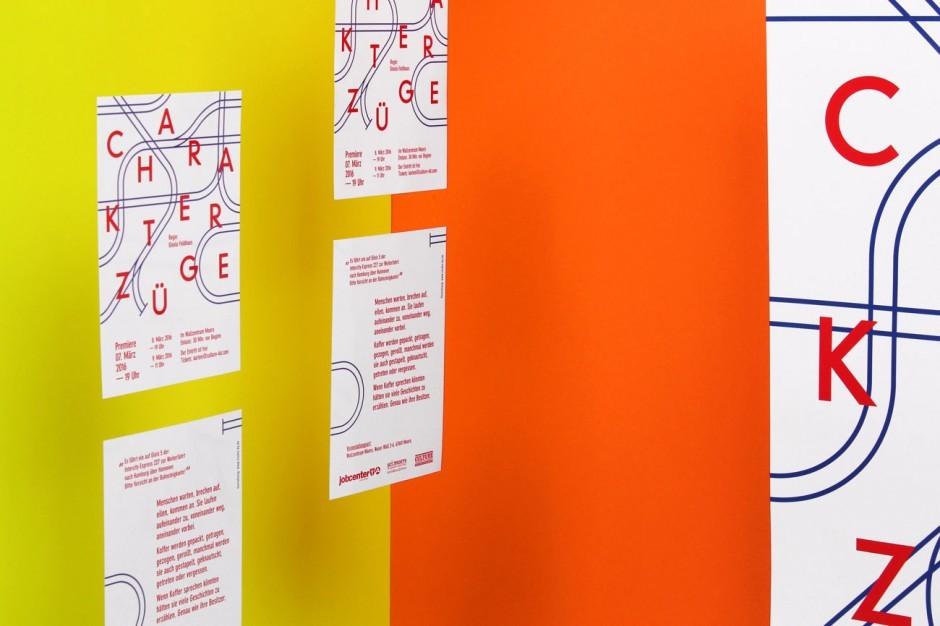 Charakterzüge - Plakat (Ausstellungsansicht)